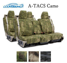 Coverking Custom Seat Covers Ballistic Canvas Front and Rear Row - A-TACS Camo