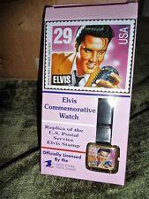 Vintage Nib Elvis Presley Commemorative Wrist Watch, Elvis Postal Stamp