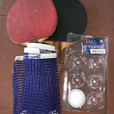 Stiga Ping Pong Paddle Set Black Red Table Tennis Racket Mesh Mini Ball  Bundle