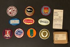 1950's Wheaties 10 British Car Emblems with ORIGINAL MAILING BOX! and Order Form