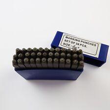 """1.6 mm nombre & lettre stamps combinaison ensemble bijoux watch outils 1/16 """""""