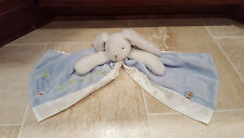 """Bunnies By the Bay Blue Rabbit """"Best Friends Indeed"""" Security Blanket/Lovey"""