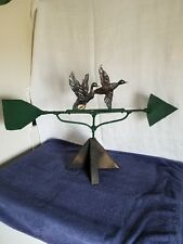 Large Folk Art Handmade Usa Rustic Steel Geese Weathervane Topper Weather Vane