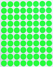 Neon Green Dot Stickers In Various Sizes 8mm 38mm Color Label In 15 Sheets