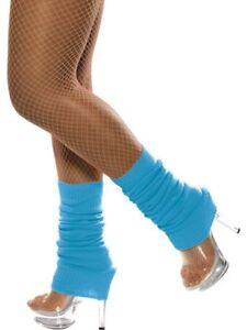 ADULT NEON LEG WARMERS 80S WORKOUT AEROBICS COSTUME LEGWARMERS DANCER HOSIERY