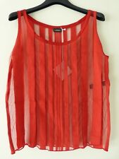 LA PERLA Cool Stripes Top cotone/ Stripes Cotton Top  col. Rosso Red Tg. IT1