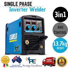 Cigweld 3IN1 Inverter Welder MIG/TIG/MMA 185 amp Single Phase Welding W1008185