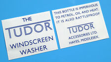 MGA & (early) MGB 'THE TUDOR' windscreen washer bottle stickers decals