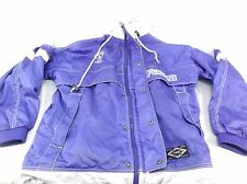 FUERZA Men's Jacket Windbreaker Zip-up Blue and Whit Large used/preowned 110248
