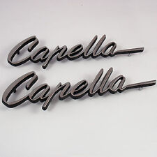 CAPELLA 2x metal badges chrome, New, for Mazda RX2 Rotary Coupe Rotor 12A 13B