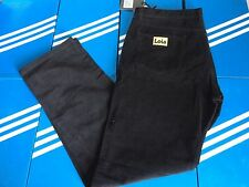 LOIS BLACK NEEDLE CORDS JEANS 40 waist 34 leg 80s CASUALS osti cp SI NEW trimm