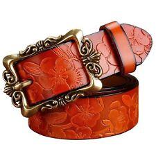Leather Flower Belts for Women