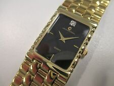 B37 NEW JB CHAMPION Gold Dress Stainless Steel Band WATCH Square VINTAGE Dress