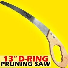 "Professional 13"" Pruning Saw with D-Ring Handle made of Sk5 Steel."