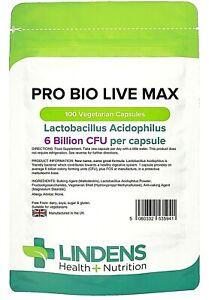 Pro Bio Live Max (Acidophilus + FOS) with Prebiotic (100 pack).