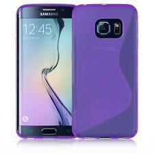 Premium Morado De Silicona Gel S-line Wave Diseño Funda Protectora Para Samsung S6 Edge