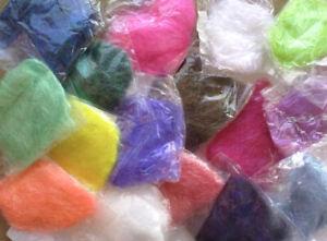 7g ANGELINA FIBRES SHIMMERING BONDABLE HOT FIX FELTING Choice Of 14 Colours