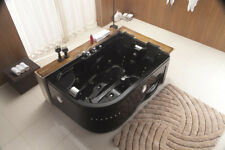 ▇BLACK Two 2 Person Whirlpool Hot Tub Jacuzzi Massage Bathtub Hydrotherapy Jets