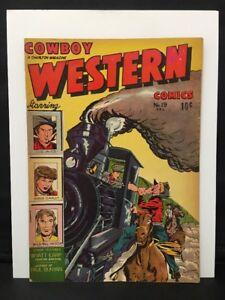 Cowboy Western Comics #19 Charlton Golden Age 1949  Rare Nice Copy!  See Pics.