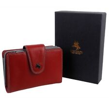 Ladies Soft Leather Crimson Purse/wallet by Visconti; Spectrum Collection Boxed