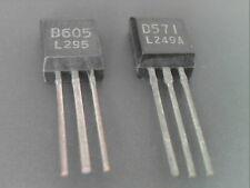 1pair complementary 2SB605 PNP - 2SD571 NPN Transistor 60V 700mA 1W 110MHz NEC