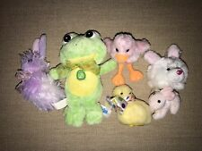 Lot of 7 Easter Stuffed Animals Bunny, Chicks, Duck, Frog Doll~Super Cute Music