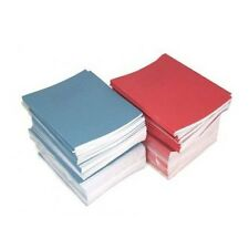 10 x School Exercise Books Blue Cover 8mm Lines with Margin 48 Page 160 x 200mm