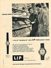 PUBLICITE ADVERTISING  1957   LIP   montres