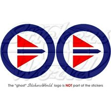 """NORWAY Norwegian AirForce Roundels 3""""(75mm) Stickers x2"""
