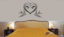 Wall Stickers Vinyl Decal for Bedroom Romance Love Birds Heart ig1306