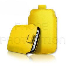 Cuero tire ficha Piel Funda bolsa se adapta a varios teléfonos Sony Ericsson