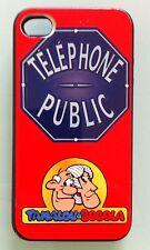 APPLE IPHONE 4 COQUE ETUI PROTECTION NOIRE PERSONNALISABLE avec PHOTO TEXTE