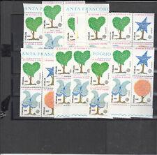 ITALIA - 1986 EUROPA CEPT - lotto10 blocchi 30% sotto facciale