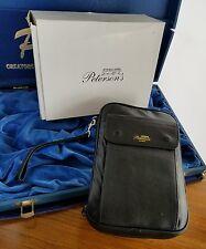Peterson's Black Calfskin Travel 5 Pipe Tobacco bag Case NOS