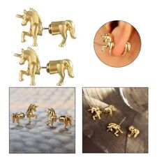 Horse Ear Stud Punk Stereoscopic Unicorn Impalement Earrings Animal Jewelry