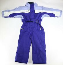 Columbia Tectonite Girl Youth Snow Suit One Piece Purple & Light Blue Size 4T