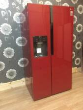 LG American-Style Fridge Freezer Cranberry Red non plumbed with ice and water