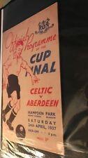 Scottish Cups Home Teams C-E Celtic Football Programmes