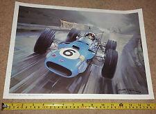 JACKIE STEWART / MATRA & HILL- 1968 GERMAN GRAND PRIX F1 PRINT BY Michael Turner