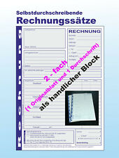 2 SD Rechnungsblocks DIN A 5, 2-fach (auch für Kleingewerbe)