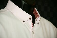 Men's St. Lynn Pour Hommer shirt XL French cuff L/S  pink w button down collar