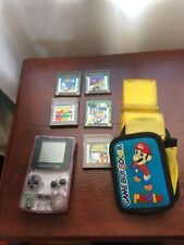 Gameboy Clear Purple 1998 CGB-001 includes 5 Games