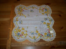 Vintage Friend Ship Scallop Store Tag Unused 1950'S Hankie Handkerchief