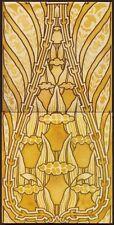 TH997 Excellent Art Nouveau Secessionist  Golden Lustre Tiles Tile Maw c.1900