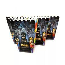 6x Lego Batman Movie Superhero Popcorn Box Paper Loot Lolly Bag. Party Supplies