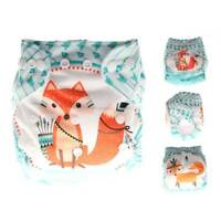 Infant Reusable Cloth Diaper Nappy Cover Adjustable Cartoon Animal Print Diapers