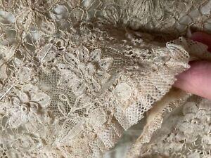 Exquisite Antique Edwardian Victorian Needle Net LACE Bodice Unfinished