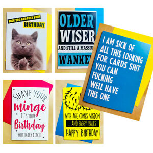 FUNNY CHEEKY OFFENSIVE ADULT HUMOUR GREETINGS CARDS BIRTHDAY CARDS VERY NAUGHTY
