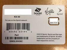 Sprint UICC Sim Card SIMGLW436C 4G LTE 100 pack