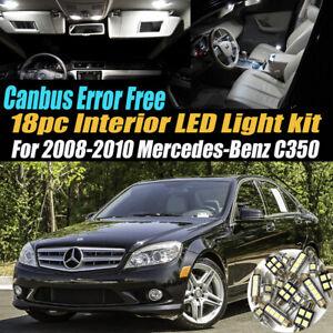 18Pc Error Free White Interior LED Light Kit for 2008-2010 Mercedes-Benz C350